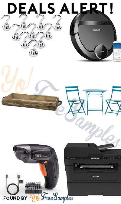 DEALS ALERT: 10 Magnetic Hooks, ECOVACS DEEBOT 901 Robotic Vacuum Cleaner, Wood Bark Serving Tray, 3-Piece Patio Bistro Set & More
