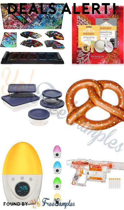 DEALS ALERT: DropMix Music Gaming System, Burt's Bees Spa Collection Set, Pyrex 10-Piece Glass Food Storage Set, Giant Pretzel Inflatable Seat & More