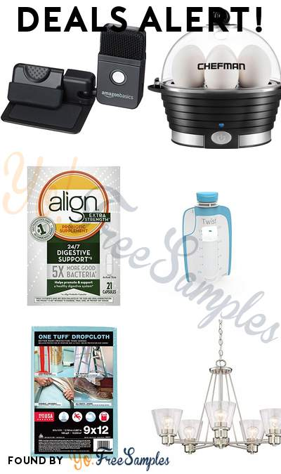 DEALS ALERT: AmazonBasics Microphone, Chefman Electric Egg Cooker, Align Extra Strength Daily Probiotic, Kiinde Breast Milk Storage Twist Pouch & More
