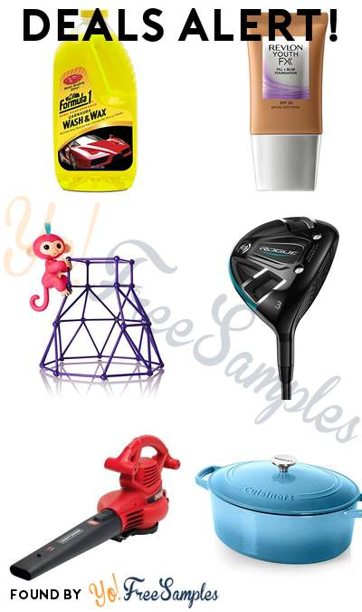 DEALS ALERT: Formula 1 Car Wash + Wax, Revlon Youth Fx Fill + Blur Foundation, Fingerlings Jungle Gym, Callaway Fairway Wood Left Handed & More