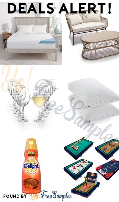DEALS ALERT: Serta Cool Gel Memory Foam Mattress Topper, SONOMA Patio Loveseat + Coffee Table, Martha Stewart Essentials 12-Pc. White Wine Glasses Set, Tommy Hilfiger Hypoallergenic SupraLoft Fiberfill Pillow & More