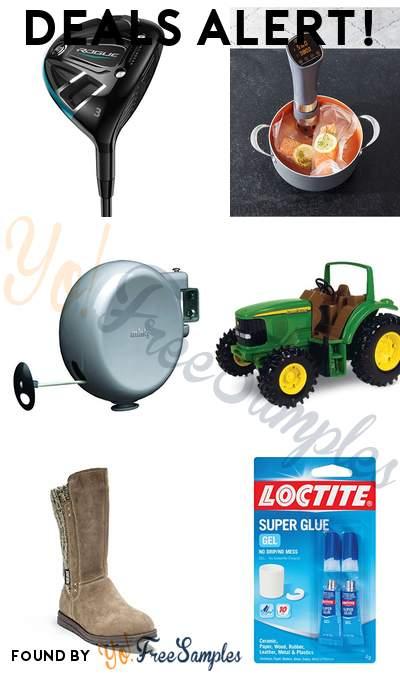 DEALS ALERT: Callaway Fairway Wood, Crux Sous Vide Cooker, Minky Outdoor Retractable Clothesline, John Deere Tough Tractor & More