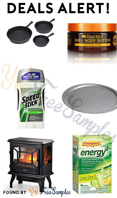 DEALS ALERT: Sedona Fry Pan Set, Tree Hut Hydrating Shea Body Butter, Speed Stick Antiperspirant/Deodorant, Good Cook 12 Inch Pizza Pan & More