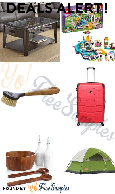 DEALS ALERT: Foosball Cocktail Table, LEGO Friends Heartlake Summer Pool, Lodge Scrub Brush, Tag Matrix Spinner Suitcase & More