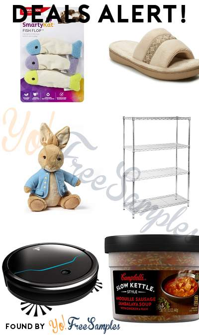 DEALS ALERT: SmartyKat Fish Catnip Crinkle Toys, Women's Slippers, GUND Plush, Seville Steel Wire Shelving & More
