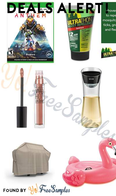 DEALS ALERT: Anthem Xbox One, 3M Ultrathon Insect Repellent Lotion, Maybelline Color Sensational Vivid Hot Lacquer Lip Gloss, Üllo Wine Purifier + Carafe & More