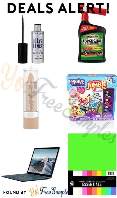 DEALS ALERT: Maybelline Liquid Liner, Spectracide Insect Killer, Maybelline Stick Concealer, Fingerlings Jungle Gym Fingerlings Board Game, Microsoft Surface Laptop & More