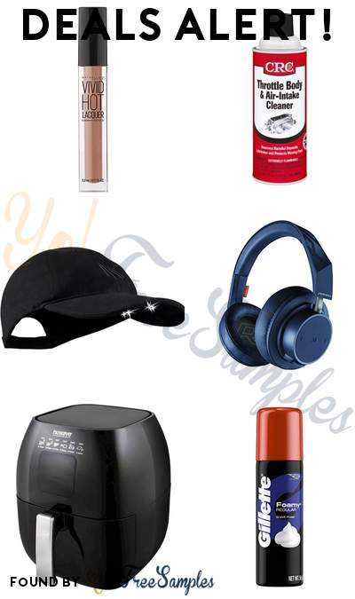 DEALS ALERT: Maybelline Lip Gloss, Throttle Body + Air-Intake Cleaner, Panther Vision LED Lighted Hat, Plantronics Noise-Isolating Headphones & More