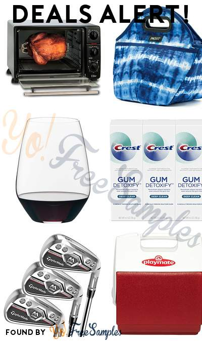 DEALS ALERT: Elite Cuisine Toaster Oven, PackIt Freezable Traveler Lunch Bag, Riedel Cabernet Tumbler 4-Pack, Crest Toothpaste Gum Detoxify Deep Clean Pack of 3 & More
