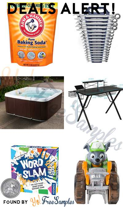 DEALS ALERT: Arm & Hammer Baking Soda, GEARWRENCH Wrench Set, Lifesmart 7-Person Spa, Atlantic Gaming Original Gaming-Desk Pro & More