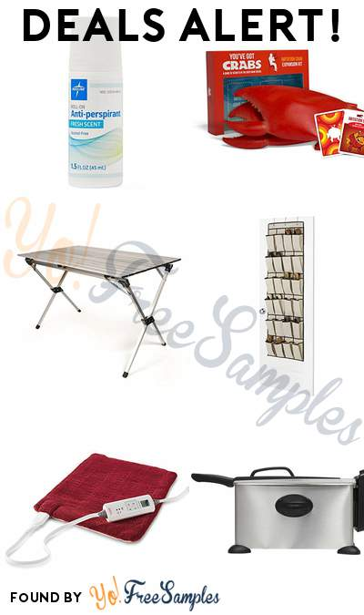 DEALS ALERT: Medline Antiperspirant/ Deodorant, You've Got Crabs Game, Camco Aluminum Roll-Up Campsite Table, OTD Shoe Organizer & More