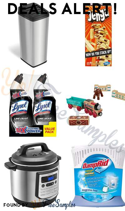 DEALS ALERT: iTouchless Automatic Trash Can, Jenga Classic Game, Lysol Lime & Rust Remover Toilet Bowl Cleaner, Fisher-Price Thomas & Friends Wood & More