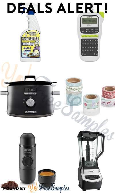 DEALS ALERT: Grandma's Secret Laundry Spray, Brother Portable Label Maker, Calphalon 5.3qt Slow Cooker, Martha Stewart Washi Tape & More
