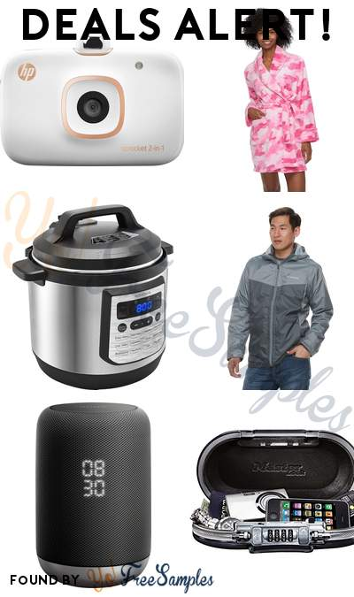DEALS ALERT: HP Sprocket Photo Printer, Women's Plush Robe, Insignia 8-Quart Pressure Cooker, Men's Columbia Weather Drain 3-in-1 Hooded Jacket & More