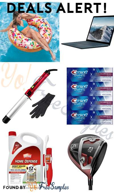 DEALS ALERT: Pool Sprinkle Donut Tube, Microsoft Surface Laptop, Bed Head Curlipops Curling Wand, Crest Toothpaste 3D White Luxe Glamorous White Pack of 4 & More