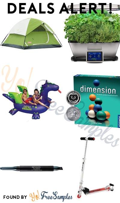 DEALS ALERT: Coleman Dome Tent, AeroGarden Bounty Elite with Gourmet Herb Seed Pod Kit, Swimline Giant Sea Dragon Inflatable Pool Toy, Dimension 3D Puzzle Game & More