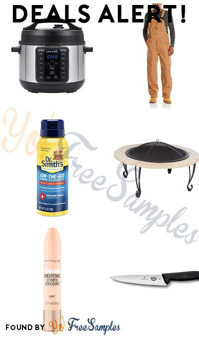 DEALS ALERT: Crock-Pot 4-Quart MINI, Bulwark Flame Resistant Coverall, Dr. Smith's On-The-Go Diaper Rash Spray, Fire Sense Fire Pit with Cast Iron Rim & More