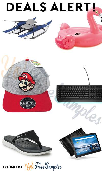 DEALS ALERT: Roanoke Inflatable Pontoon Boat, Intex Flamingo Inflatable, Mario Head Curved Bill Cap, Alienware Mechanical Keyboard & More