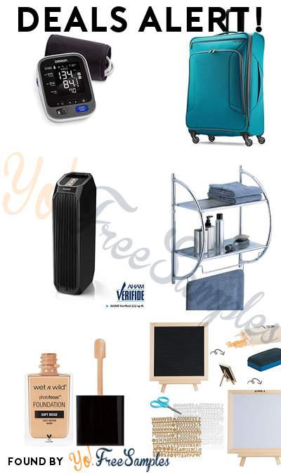 DEALS ALERT: Omron 10 Series Blood Pressure Monitor, American Tourister Large Checked Bag, Eureka Instant Clear HEPA Air Cleaner, Organize It All Chrome Bathroom Shelf with Towel Bars & More