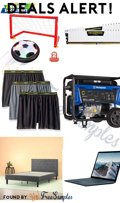 DEALS ALERT: Betheaces Kids Toys Hover Soccer Ball Set, Corsair Vengeance 32GB DDR4, Hanes Men's 3-Pack X-Temp Boxers, Westinghouse Portable Generator & More