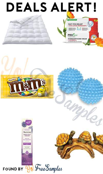 DEALS ALERT: Columbia 3-In-1 Down Alternative Comforter, PROcure Hydrocortisone Cream with Calendula, M&M'S Peanut Chocolate Candy Singles Size Pouches, Honey-Can-Do Fabric Softener Balls & More