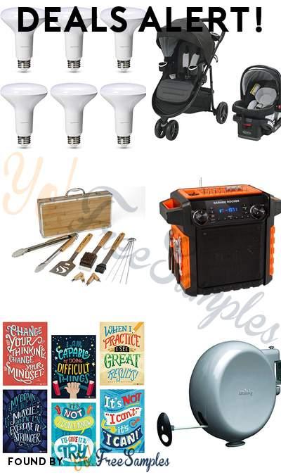 DEALS ALERT: AmazonBasics Commercial Grade LED Light Bulbs, Graco Stroller, Cuisinart Bamboo Tool Set, ION Audio Garage Rocker Portable Bluetooth Speaker & More