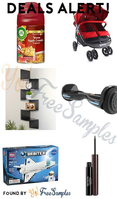 DEALS ALERT: Air Wick Warm Apple Crumble Air Freshener, Joovy Scooter X2 Double Stroller, Greenco 5 Tier Wall Mount Corner Shelves, Razor Hovertrax 1.5 & More
