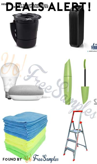 DEALS ALERT: Keurig My K-Cup Universal Reusable Ground Coffee Filter, Eureka HEPA Air Cleaner, Google Smart Light Starter Kit, COVERGIRL Clump Crusher Extensions LashBlast Mascara & More