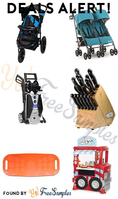 DEALS ALERT: Baby Trend Xcel Jogger Stroller, JOOVY Twin Groove Ultralight Umbrella Stroller, Electric Pressure Washer, Chicago Cutlery 15 Piece Knife Set & More
