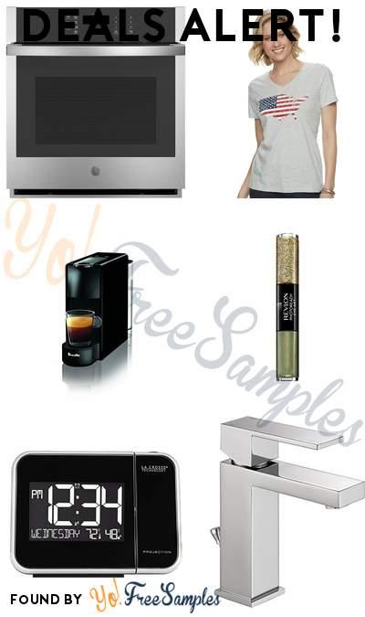 DEALS ALERT: GE Electric Oven Self-Cleaning, Women's Patriotic V-Neck Graphic Tee, Nespresso Essenza Mini Original Espresso Machine, Revlon PhotoReady Eye Art Lid+Line+Lash & More