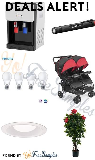 DEALS ALERT: Avalon Hot & Cold Water Dispenser, Penlight LED Flashlight, Phillips LED A19 Light Bulbs, Kolcraft Double Stroller & More