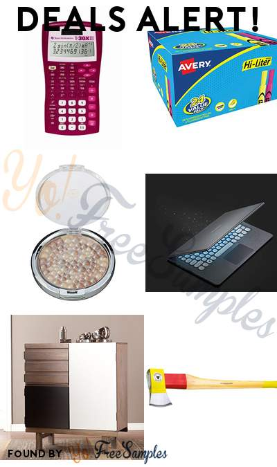 DEALS ALERT: Texas Instruments Scientific Calculator, Avery 24x Highlighters, Physicians Formula Powder Palette Mineral Glow Pearls, Samsung Notebook 13.3″ & More