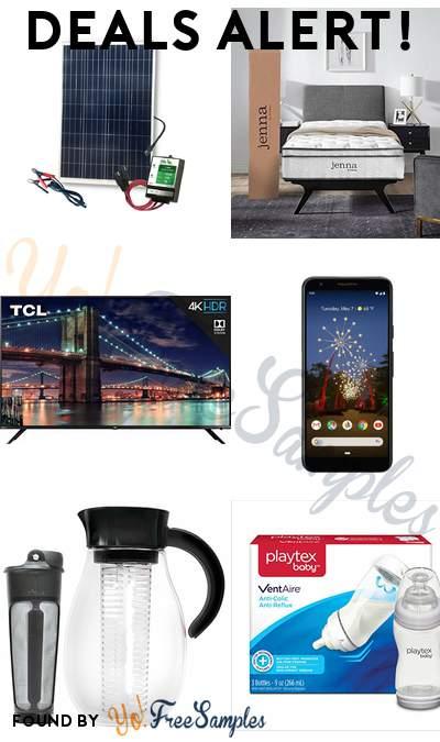DEALS ALERT: Nature Power Complete Solar Kit, Jenna 10″ Twin Innerspring Mattress, TCL 65-Inch 4K Ultra HD Roku Smart LED TV, Google Pixel 3a 64GB Cell Phone & More