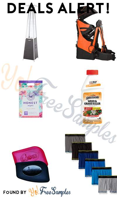 DEALS ALERT: Fire Sense Patio Heater, Clevr Deluxe Baby Backpack, The Honest Company Designer Baby Wipes, Spectracide Weed & Grass Killer & More