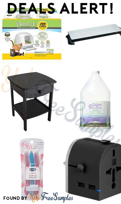 DEALS ALERT: Purina Tidy Cats BREEZE Hooded Cat Litter System, Salton Stainless-Steel Warming Tray, Winsome Accent Table, Black, George's Aloe Vera Supplement 128 Fluid Ounce & More