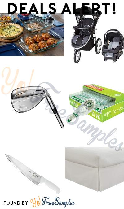 DEALS ALERT: Pyrex  5-Piece Glass Bakeware Set, Baby Trend Pathway 35 Jogger Travel System, Cobra King Raw Wedge, American Tombow Mono Hybrid Correction Tape 10-Pack & More