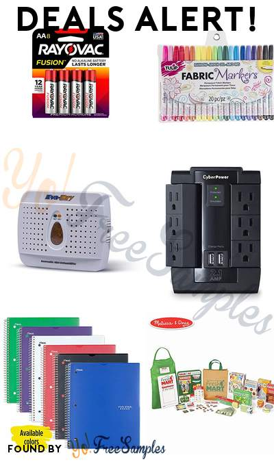 DEALS ALERT: Rayovac AA Batteries, Tulip Fabric Markers, Eva-dry Mini Dehumidifier, CyberPower Surge Protector & More