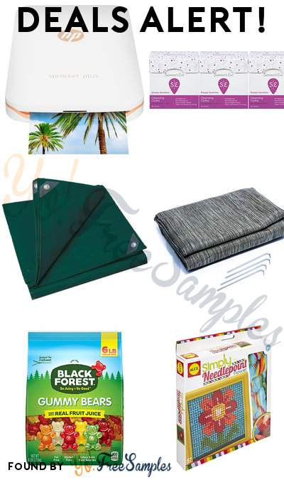 DEALS ALERT: HP Sprocket Plus Photo Printer, Summer's Eve Cleansing Cloths, Stansport 5X7 Tarp, Camco Durable Reversible RV Camper Awning Mat with Carry Bag & More