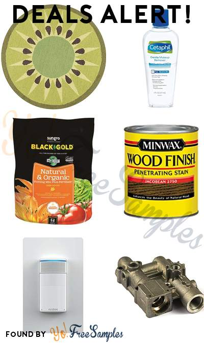 DEALS ALERT: Kiwi Round Kitchen Mat, Cetaphil Makeup Remover, Black Gold Potting Soil, Minwax Wood Stain & More