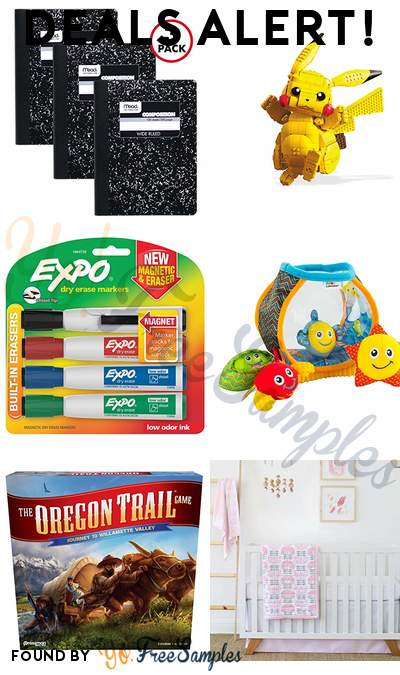DEALS ALERT: Mead Composition Notebooks, Mega Construx Pokemon Jumbo Pikachu, EXPO Dry Erase Markers, LAMAZE My First Fishbowl Toy & More