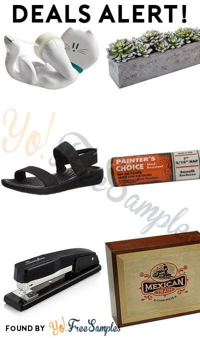 DEALS ALERT: Scotch Magic Tape Kitty Dispenser, Nearly Natural Succulent Garden with Textured Concrete Planter, Crocs Women's LiteRide Sandal, Painter's Choice Roller Cover & More