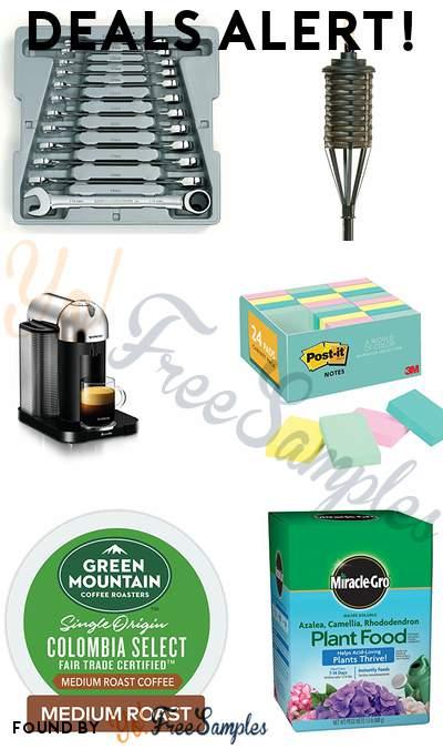 DEALS ALERT: GearWrench Set, TIKI Bali Metal Torch, Nespresso Vertuo Machine, Post-it Notes & More