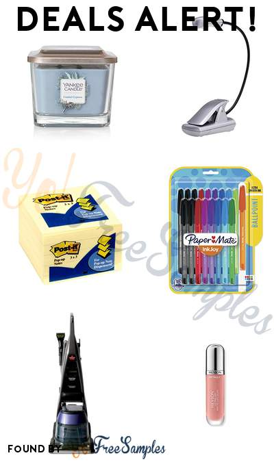 DEALS ALERT: Yankee Candle Medium 3-Wick Square Candle, Light It! LED Book Reading Light, Post-it Notes, Paper Mate InkJoy 100ST Ballpoint Pens & More