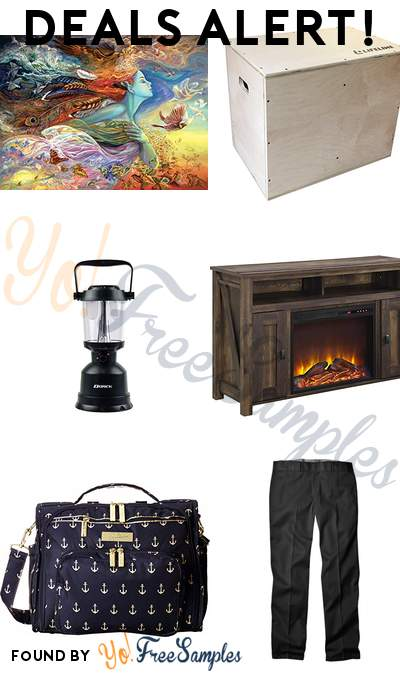 DEALS ALERT: Buffalo Games Spirit of Flight Jigsaw Puzzle, Lifeline Plyobox, Dorcy Waterproof Floating LED Lantern, Ameriwood Electric Fireplace TV Console & More