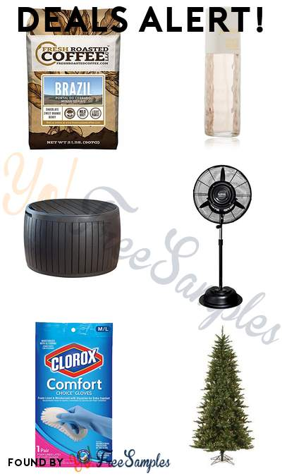 DEALS ALERT: Fresh Roasted Brazilian Coffee 2 Pound Bag, Jovan Women's Fragrance, Keter Wood Style Round Outdoor Storage Table, Luma Comfort Commercial Misting Fan & More