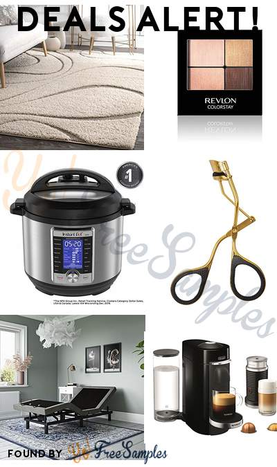 DEALS ALERT: nuLOOM Soft + Plush Shaggy Curves Rug, Revlon Colorstay Eyeshadow, Instant Pot Ultra 6 Qt 10-in-1, Revlon Titanium Series Lash Curler & More