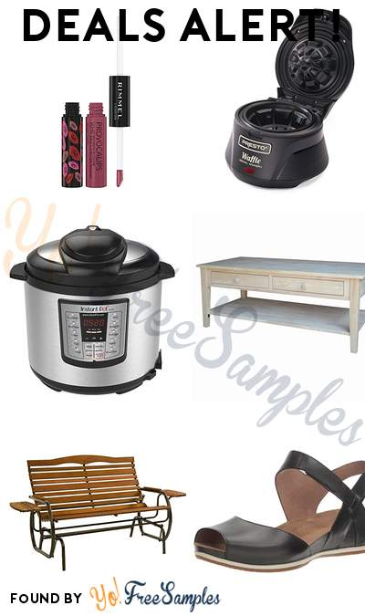 DEALS ALERT: Rimmel Provocalips Lip Stain, Presto Belgian Waffle Bowl Maker, Instant Pot LUX60V3, International Concepts Spencer Coffee Table & More