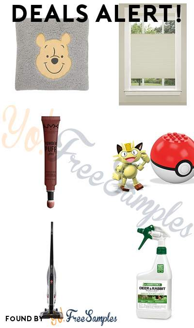 DEALS ALERT: Winnie The Pooh Grey + Yellow Plush, Achim Honeycomb Pleated Shade, NYX Lip Cream, Mega Construx Pokemon Meowth Building Set & More