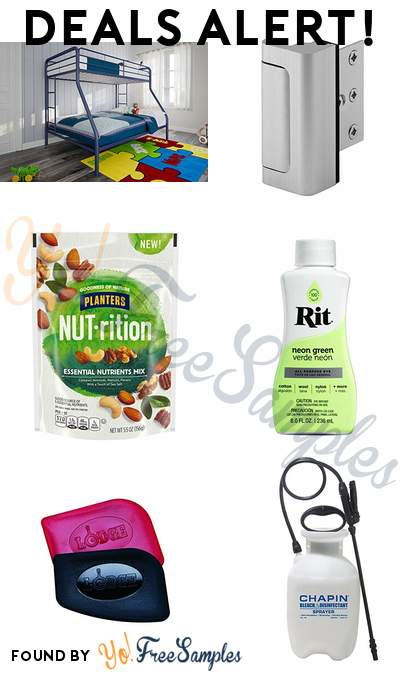 DEALS ALERT: DHP Twin-Over-Full Bunk Bed, Door Reinforcement Lock, NUTrition Essential Nutrients Nut Mix Bag, Rit Fabric Dye Neon Green & More