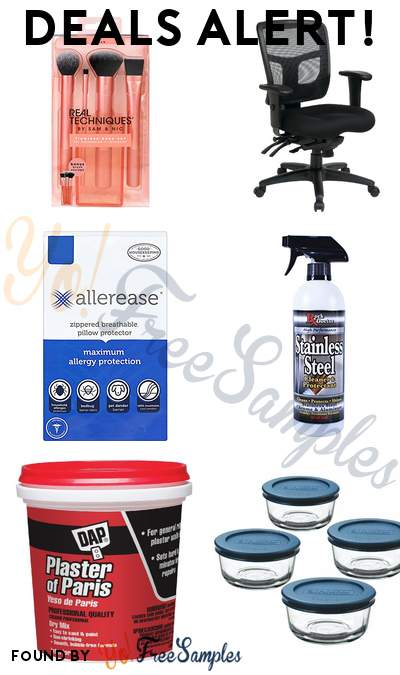 DEALS ALERT: Real Techniques Flawless Base Set, Office Chair, AllerEase Maximum Allergy Protection Pillow Protectors, Rock Doctor Stainless Steel Cleaner & More